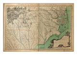 1770, North Carolina State Map with Landowner Names, North Carolina, United States Giclee Print