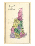 1892, State Map New Hampshire, New Hampshire, United States Giclee Print