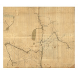 1758, Hudson River from Albany to Fort Edward, New York, United States Giclee Print