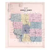 1898, Andrew County Map, Missouri, United States Giclee Print
