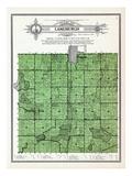 1912, Lanesburgh Township, Heidelburg, New Prague, Lake Pepin, Sanborn, Pepin, Graham, Minnesota, U Giclee Print