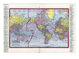 1917, World Map Giclee Print