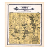 1907, Fenton Township, Linden, Crooked Lake, Mt. Pleasant, Byram, Pine, Silver Lake, Shiawassee Riv Giclee Print
