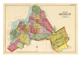 1890, Brooklyn City Map, New York, United States Giclee Print