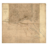 1861, 1865, Washington D.C.Civil War, Lines of Defense Wall Map, District of Columbia Giclee Print