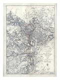 1865, Washington D.C., Civil War, Military Wall Map, District of Columbia, United States Impression giclée