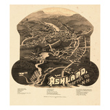 1883, Ashland Bird's Eye View, New Hampshire, United States Giclee Print