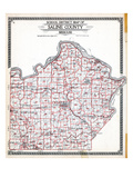 1916, Saline County School District Map, Missouri, United States Giclee Print
