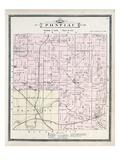 1896, Pontiac Township, Lake Angelus, Clinton River, Amy, Osmun Lake, Michigan, United States Giclee Print