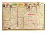 1853, Wayne County 1853 Wall Map, New York, United States Giclee Print
