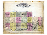 1907, County Outline, Oklahoma, United States Giclee Print