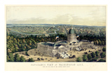 1856, Washington City and Capitol, Bird's Eye View, District of Columbia, United States Giclee Print