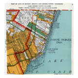 1925, Grosse Point Township, Gratiot Township, Detroit 3, Lake St. Clair, Michigan, United Sta Giclee Print