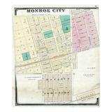 1875, Monroe City, Missouri, United States Giclee Print