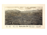 1885, Rutland Bird's Eye View, Vermont, United States Giclee Print