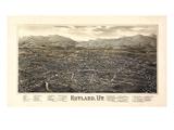 1885, Rutland Bird's Eye View, Vermont, United States Giclee Print