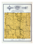 1912, Kilkenny Township, Lake Dora, Volney, Sabre, Diamond, goose, Sun Fish, Minnesota, United Stat Giclee Print