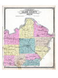 1916, Saline County Outline Map, Missouri, United States Giclee Print