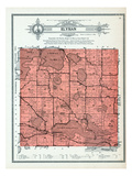 1912, Elysian Township, Lake Frances, German, Jefferson, Rice, Steele, Silver, Round, Sasse, Fish Giclee Print
