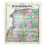 1874, Hancock County Map, Illinois, United States Giclee Print