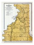 1912, Kasota Township, St. Peter City, Long Lake, Emily, Minnesota River, Minnesota, United States Giclee Print