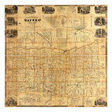 1858, Wayne County 1858 Wall Map, New York, United States Giclee Print