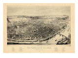 1892, Saint Louis 1892c Panoramic View Published by Juehne, Missouri, United States Giclee Print