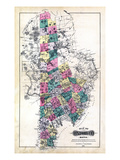 1880, Oxford County Map, Maine, United States Giclee Print