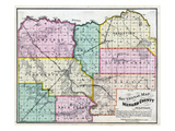 1874, Menard County Sectional Map, Illinois, United States Giclee Print