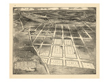 1883, Brookland Bird&#39;s Eye View, District of Columbia, United States Giclee Print