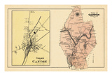 1880, Canton Village, Canton Town, Maine, United States Giclee Print