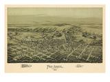1894, Pen Argyl Bird's Eye View, Pennsylvania, United States Giclee Print