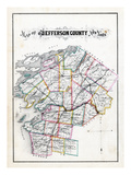 1878, Jefferson County Map, New York, United States Giclee Print
