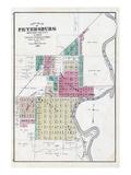 1874, Petersburg City, Illinois, United States Giclee Print