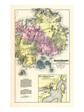 1881, Mount Desert, Eden, Tremont and Cranberry Isle, Somsville, Maine, USA Giclee Print