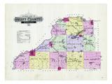 1898, Scott County Outline Map, Minnesota, United States Giclee Print