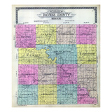 1916, Daviess County Outline Map, Missouri, United States Giclee Print