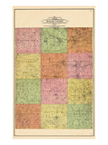 1905, Dodge County Map, Minnesota, United States Giclee Print