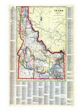1915, Idaho State Map, Idaho, United States Giclee Print