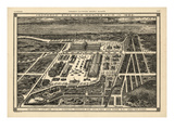 1883, New York City 1883 Bird's Eye View of World's Fair, New York, United States Giclee Print