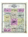 1908, Saline County Outline Map, Illinois, United States Giclee Print