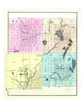 1881, Hancock County Townships 26 27 32 33, Amherst, Aurora, Maine, United States Giclee Print