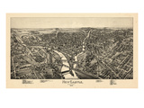 1896, New Castle Bird's Eye View, Pennsylvania, United States Giclee Print