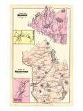 1880, Hartford Town, Hebron Town, Hebron Corner, Hartford Village, Maine, United States Giclee Print