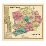 1872, German Township, Masontown, McClelland Town, Pennsylvania, United States Giclee Print