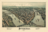 1902, Pittsburgh Bird's Eye View, Pennsylvania, United States Giclee Print