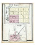 1884, Sibley, Roberts, Illinois, United States Giclee Print