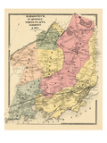 1867, Mamaroneck, Scarsdale, White Plains, Harrison & Rye, New York, United States Giclee Print