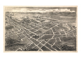 1907, Hickory Bird's Eye View, North Carolina, United States Giclee Print