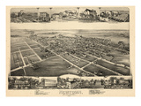1893, Newtown, Bird's Eye View, Pennsylvania, United States Giclee Print